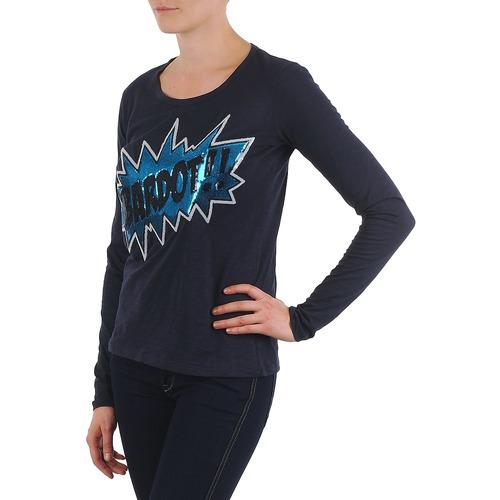 Brigitte Bardot BB43130 Blue - Free delivery  ! - Clothing Long sleeved tee-shirts Women   59.39