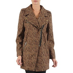 Clothing Women coats Brigitte Bardot BB43110 Brown / Leopard