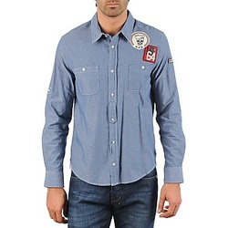 Clothing Men Long-sleeved shirts Mr Marcel NEBRASKA Blue