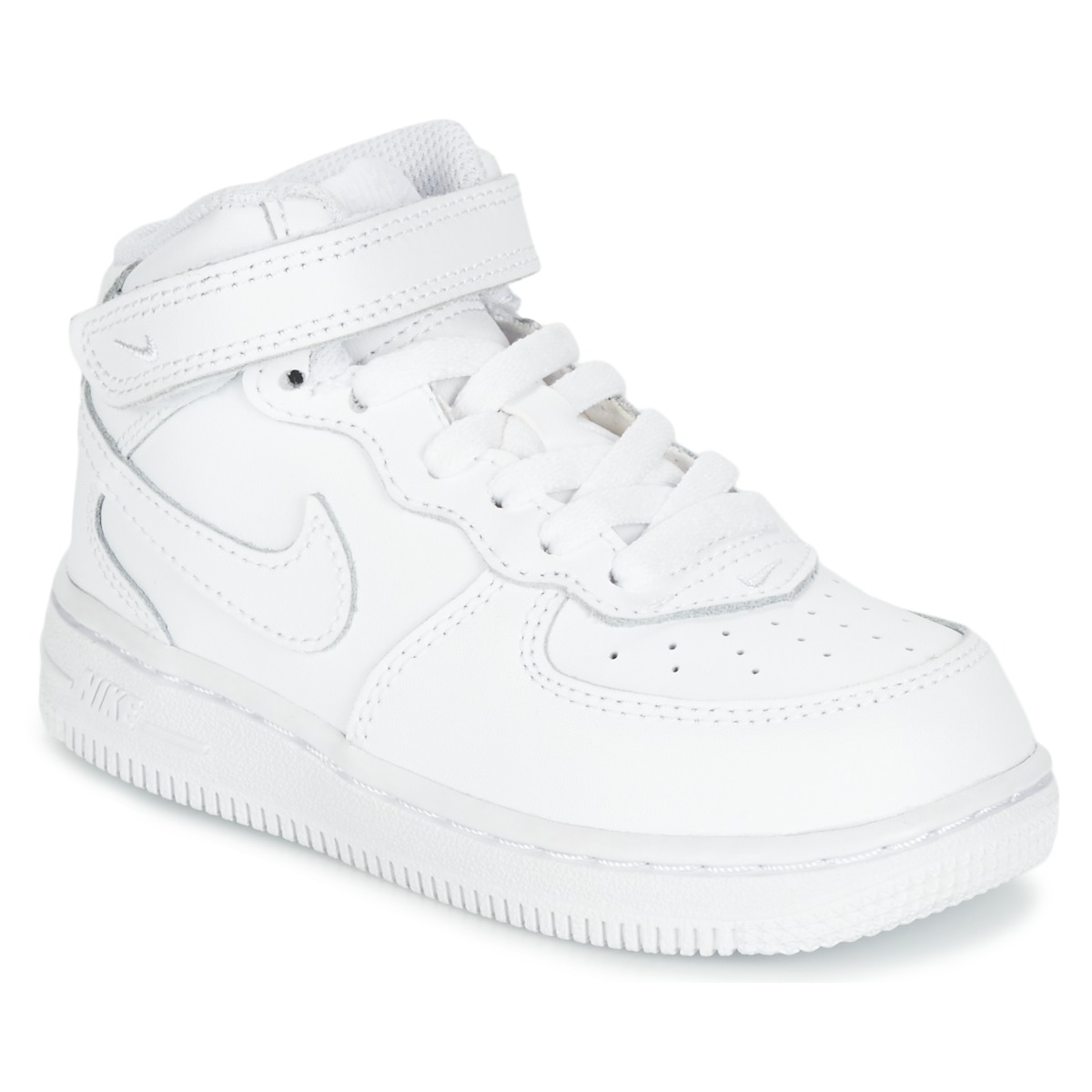 the latest ca91b 8bfa0 Nike AIR FORCE 1 MID TODDLER White - Free delivery with Spartoo UK ...