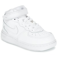 Shoes Children Low top trainers Nike AIR FORCE 1 MID TODDLER White