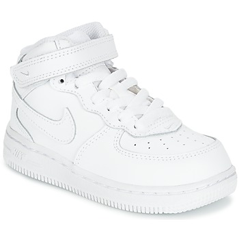 Shoes Children Hi top trainers Nike AIR FORCE 1 MID TODDLER White