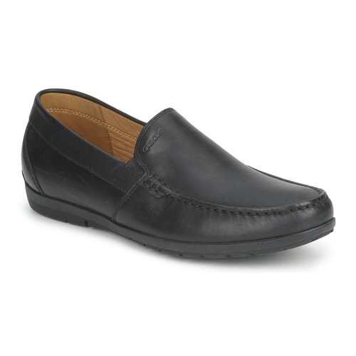 Shoes Men Loafers Geox SIMON W Black