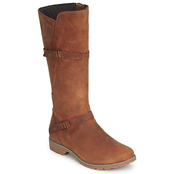 Shoes Women High boots Teva DELAVINA LEATHER Brown