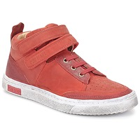 Shoes Girl Hi top trainers Pom d'Api BACK BASKET Red