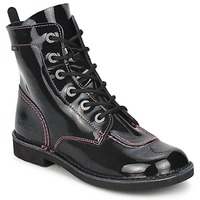 Shoes Girl Mid boots Kickers KICK MOOD Black / VARNISH