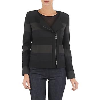 Clothing Women Jackets / Blazers Lola VIE DUP Black / Grey