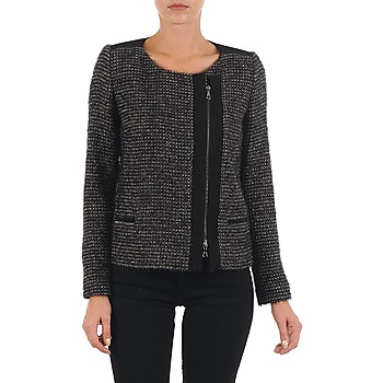 Clothing Women Jackets / Blazers Lola VIE LUREX Black / Beige
