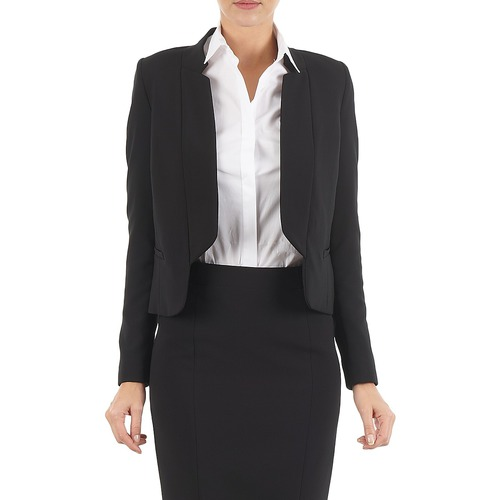 Clothing Women Jackets / Blazers Lola DOUBLE VAEL Black