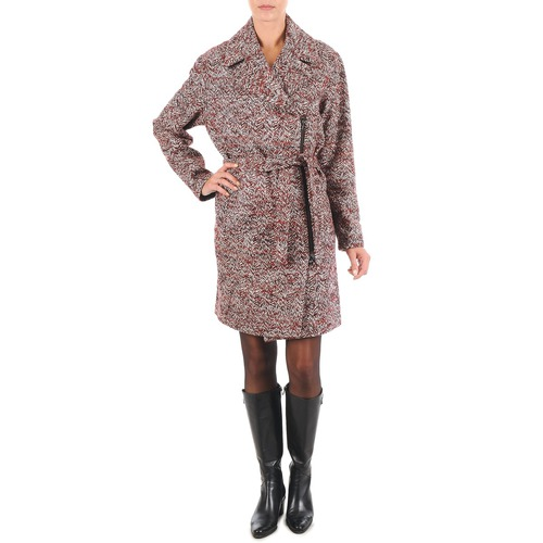Clothing Women coats Lola MORANDI IPERYON Bordeaux