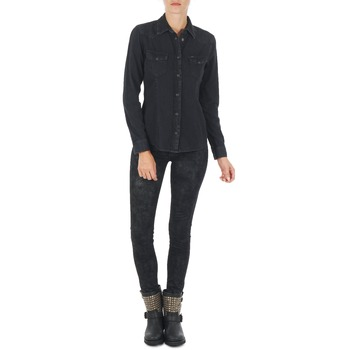 Clothing Women slim jeans Lee SCARLETT Black