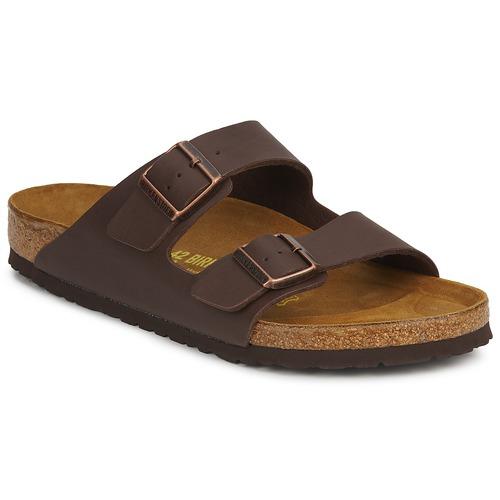 Shoes Mules Birkenstock ARIZONA Brown / Dark