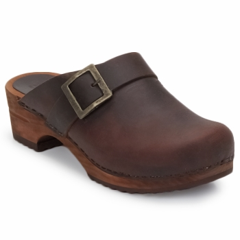 Shoes Women Clogs Sanita URBAN OPEN Brown