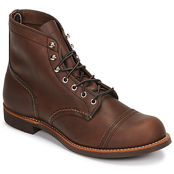 1920s Men's Fashion UK | Peaky Blinders Clothing Red Wing  6 IRON RANGER  mens Mid Boots in Brown £284.00 AT vintagedancer.com