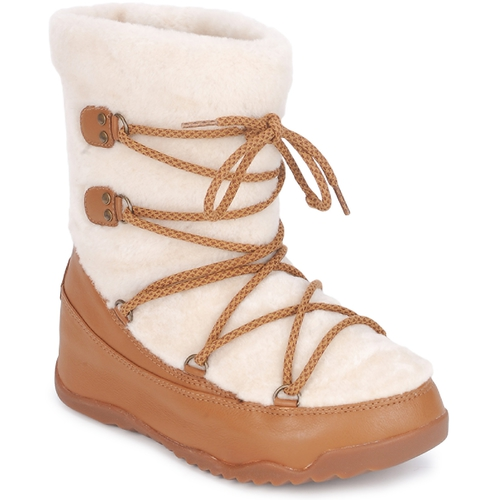 Shoes Women Snow boots FitFlop SUPERBLIZZ™ Beige / Brown