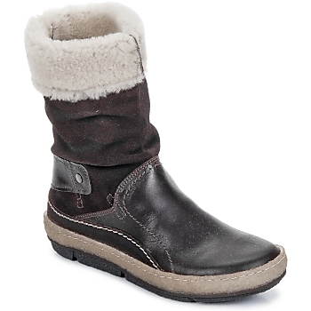 Shoes Women Mid boots Snipe POLIGHT SUEDE DOUBLE FACE CHOCOLATE / Brown