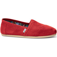 Shoes Men Espadrilles Toms Mens Red Canvas Classic Espadrilles Red