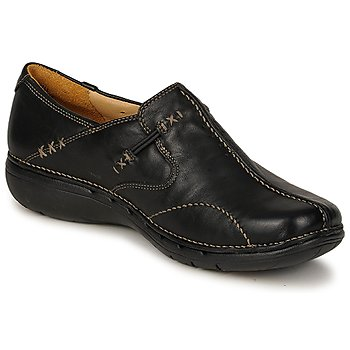 Shoes Women Derby Shoes Clarks UN LOOP Black