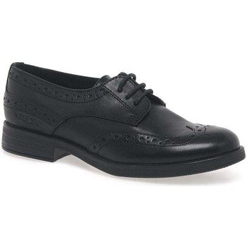 Shoes Girl Derby Shoes Geox Agata Lace Girls Senior School Shoes black