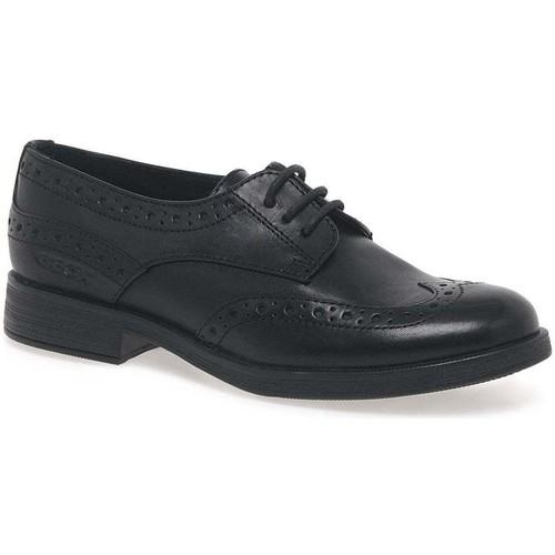 Shoes Girl Derby Shoes Geox Agata Lace Girls Senior School Shoes black