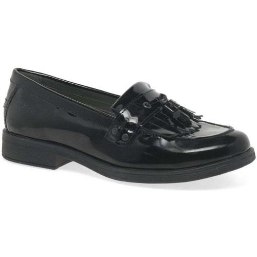Shoes Girl Loafers Geox Agata Tassle Girls Senior School Shoes black