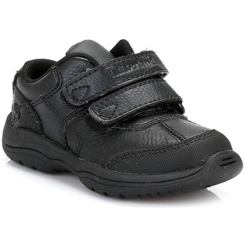 Shoes Children Derby Shoes Timberland Toddlers Black Woodman Park Oxford Leather Shoes Black