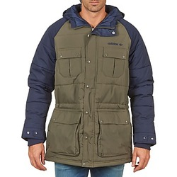 Clothing Men Parkas adidas Originals PADDED PARKA MARINE / KAKI