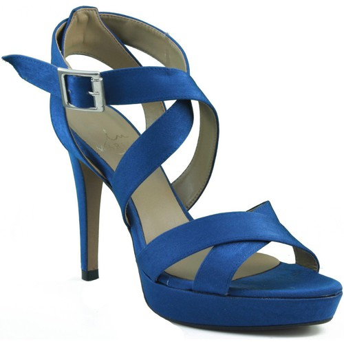 Shoes Women Sandals Marian party shoes with heels. BLUE