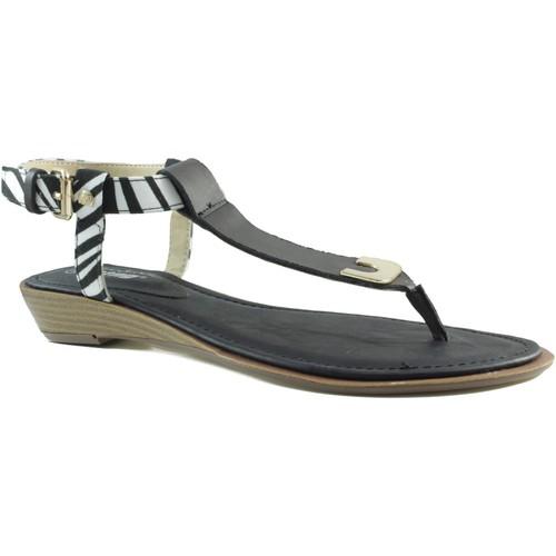 Shoes Women Flip flops MTNG MUSTANG VACHE BLACK