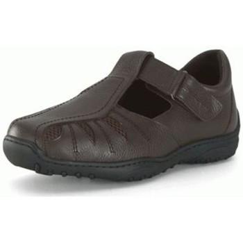 Shoes Men Derby Shoes Calzamedi COMFORTABLE AND WIDE DIABETIC MEN'S SANDAL BROWN