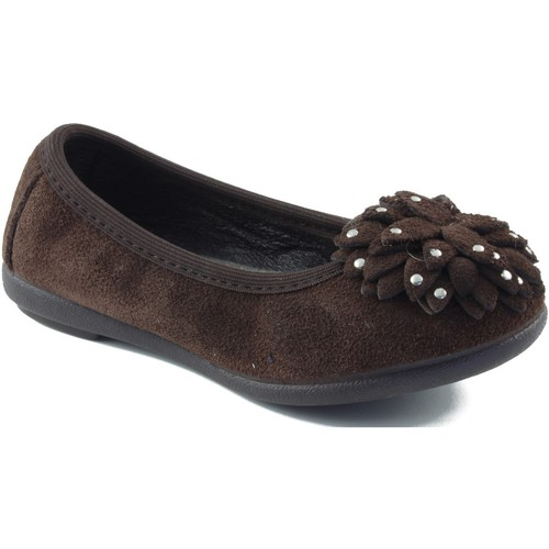 Shoes Girl Flat shoes Vulladi ballerina with rubber BROWN