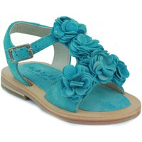 Shoes Girl Sandals Oca Loca OCA LOCA baby sandal flowers LIGHT BLUE