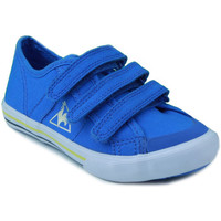Shoes Boy Low top trainers Le Coq Sportif SAINT MALO PS STRAP BLUE