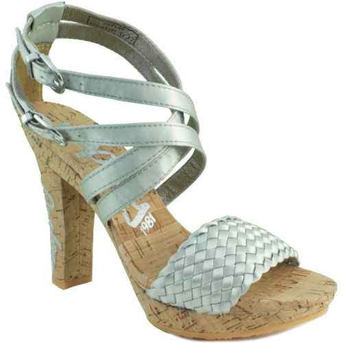 Shoes Women Sandals Replay ELSA SILVER SILVER