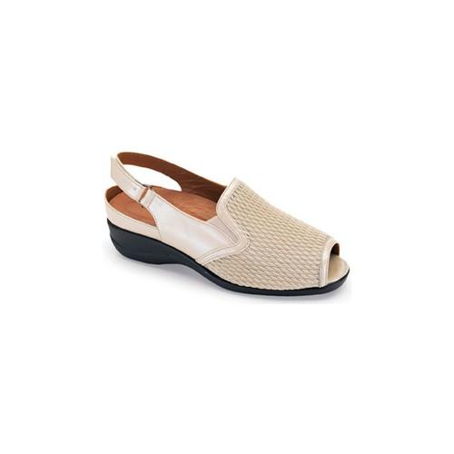Shoes Women Sandals Calzamedi sandal elastic blade BEIGE