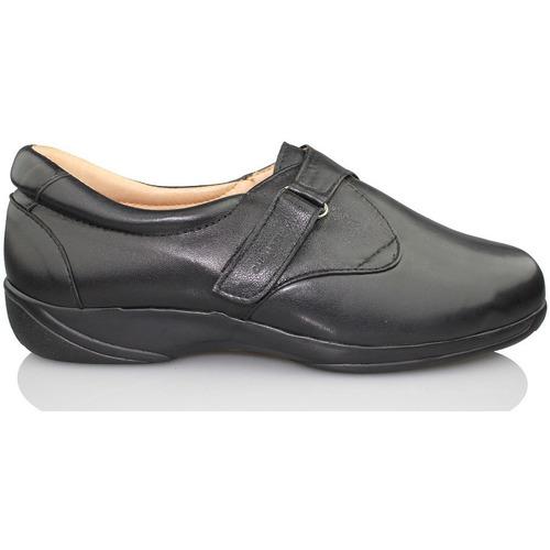 Shoes Women Loafers Calzamedi elastic blade BLACK