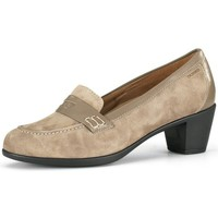 Shoes Women Heels Calzamedi wide moccasin special woman BEIGE