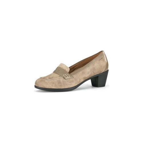 Shoes Women Heels Calzamedi wide moccasin special woman BEIGE