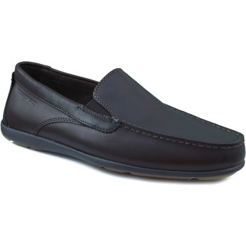 Shoes Men Loafers Rockport cape noble man 2 smooth skin BROWN