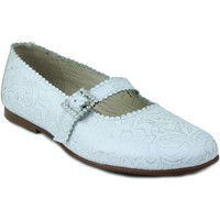 Shoes Girl Flat shoes Rizitos Ringlet girl communion skin shoes WHITE