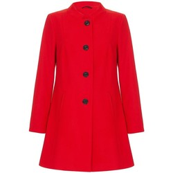 Clothing Women coats Anastasia Red Single Breasted Collarless Winter Coat Size UK 8 EUR 36 USA red