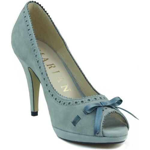 Shoes Women Heels Marian comfortable shoe heel nubuck BLEU