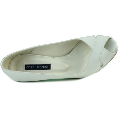 Shoes Women Heels Angel Alarcon RASO OPORTO WHITE