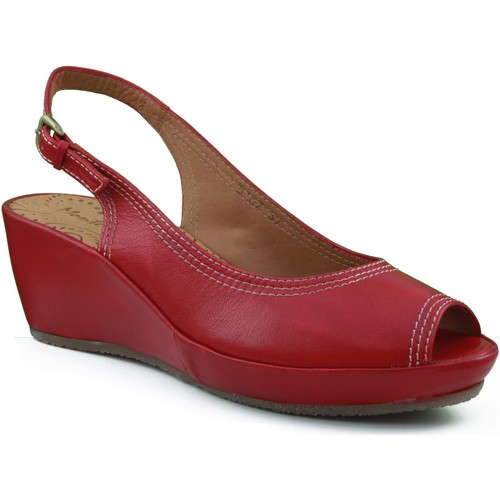 Shoes Women Sandals Montesinos wedge shoe with comfortable and l RED