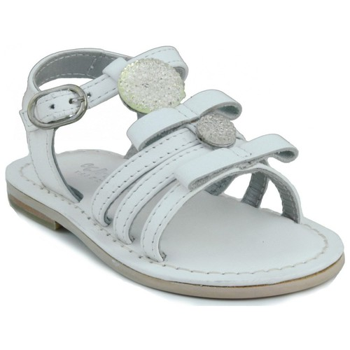 Shoes Girl Sandals Oca Loca OCA LOCA leather baby sandal WHITE