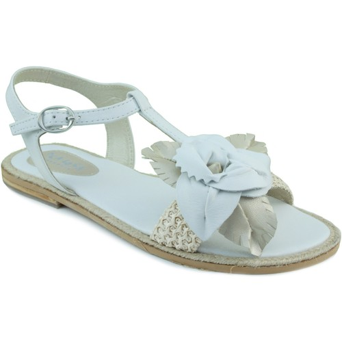 Shoes Girl Sandals Oca Loca OCA LOCA sandal to raffia WHITE