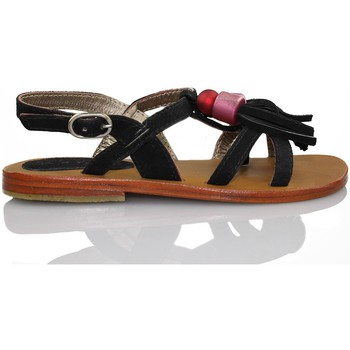 Shoes Girl Sandals Oca Loca OCA LOCA fringed sandal BLACK