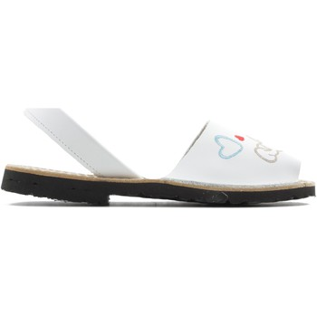 Shoes Girl Sandals Arantxa MENORQUINA dog WHITE