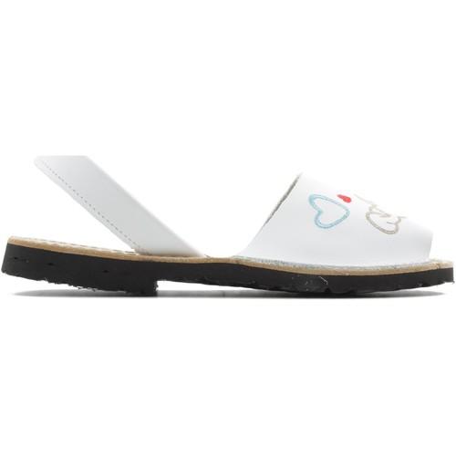 Shoes Girl Sandals Arantxa MENORQUINA dog WHITE