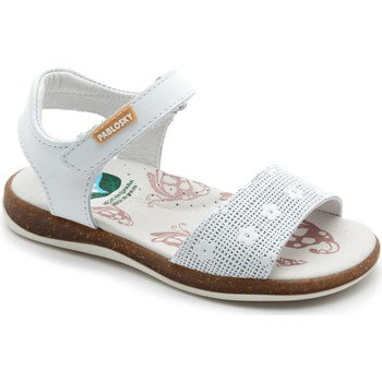 Shoes Girl Sandals Pablosky OPERA OFF ASTERIX WHITE